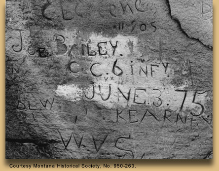 Joe Bailey's name carved in stone