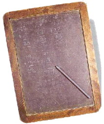 Writing slare used in Victorian classroom