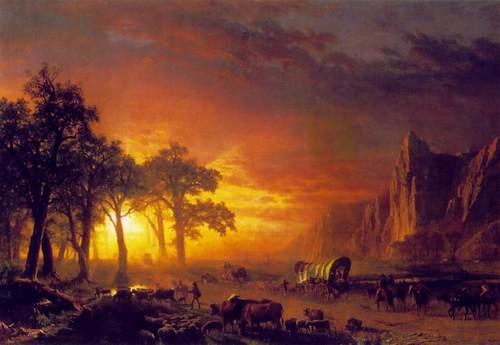 Emigrants Crossing the Plains by Bierstadt