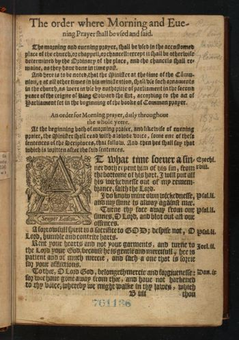 "Photograph of a page from an old book using ""blackletter"" typescript"
