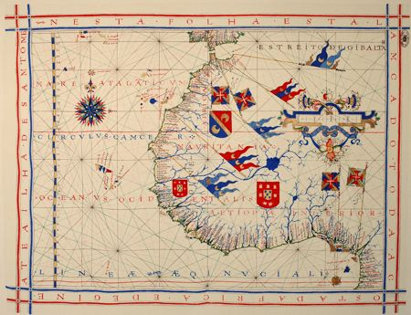 Nautical map of West Africa