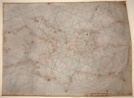 14th Century map of the Mediterranean