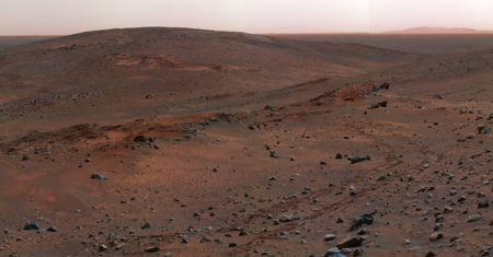 Photograph of Martian landscape