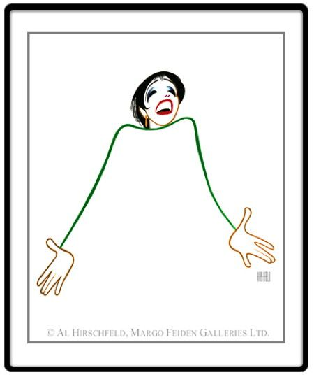 Caricature of the singer Liza Minnelli