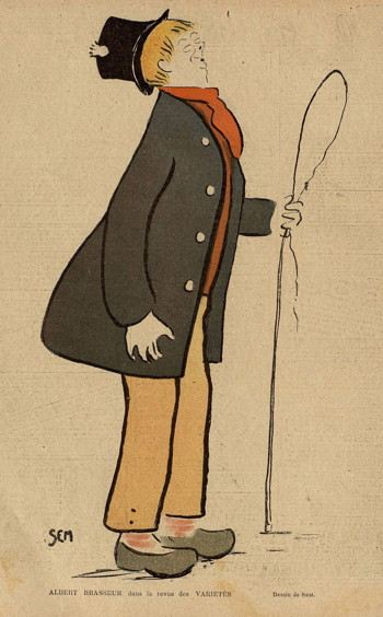 Caricature of a clown