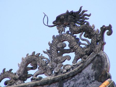 Statue of an Asian dragon