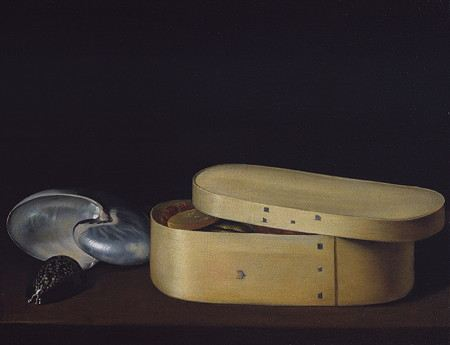 Painting of a box with shell