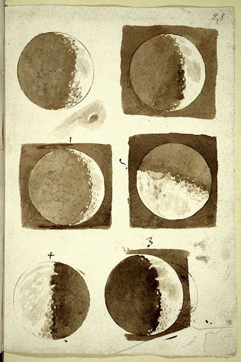 Galileo's drawings of the moon