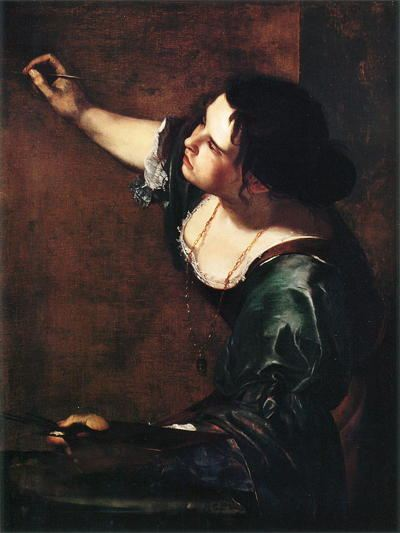 Painting of a woman painting