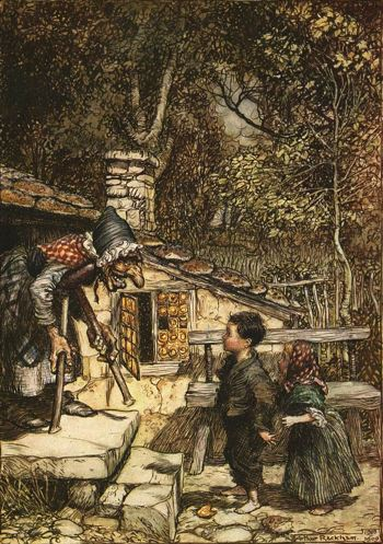 A painting of Hansel and Gretel