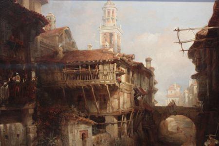 Painting of buildings in Granada, Spain