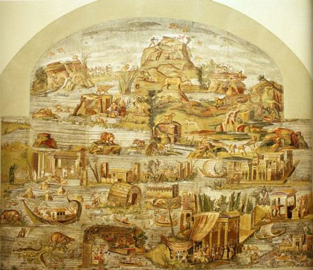 Mosaic depicting the Nile River and the communities on its banks