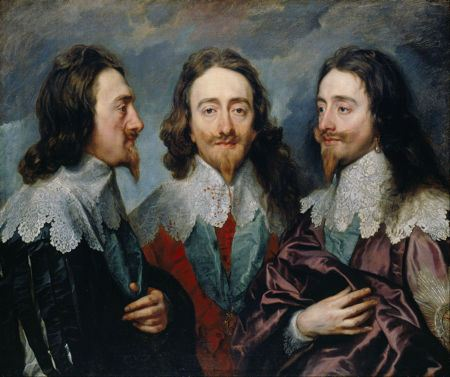 Portrait of Charles I, three views